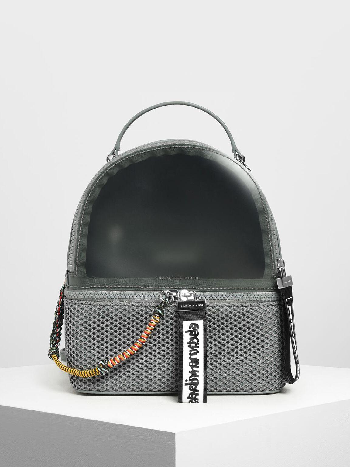 Mesh Detail Backpack, Moss, hi-res