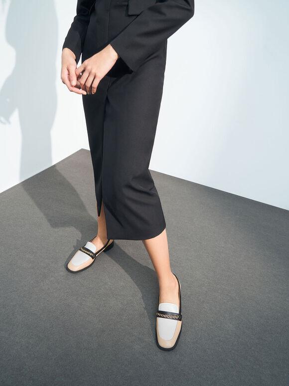 麻花鏈樂福鞋, 混色, hi-res