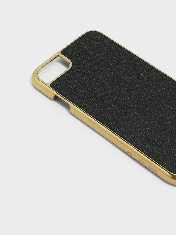 Textured iPhone Case, Black, hi-res