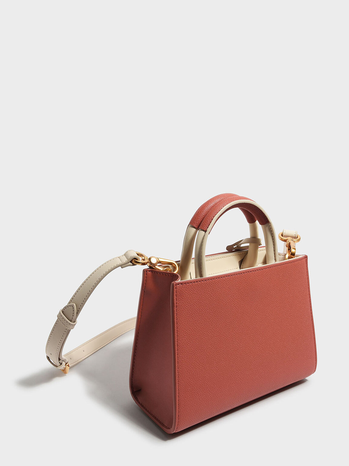 Classic Structured Bag, Brick, hi-res