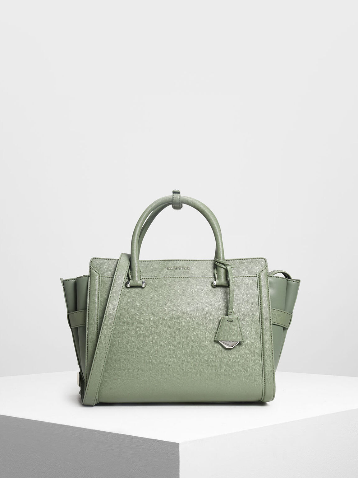 Classic Structured City Bag, Sage Green, hi-res