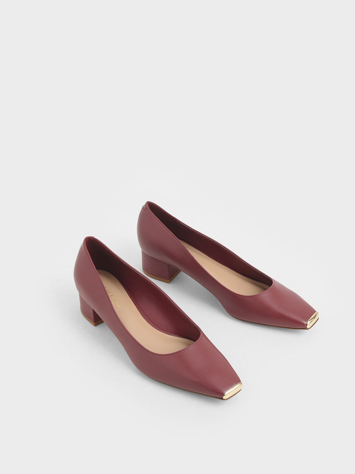 Chrome Tip Pumps, Prune, hi-res