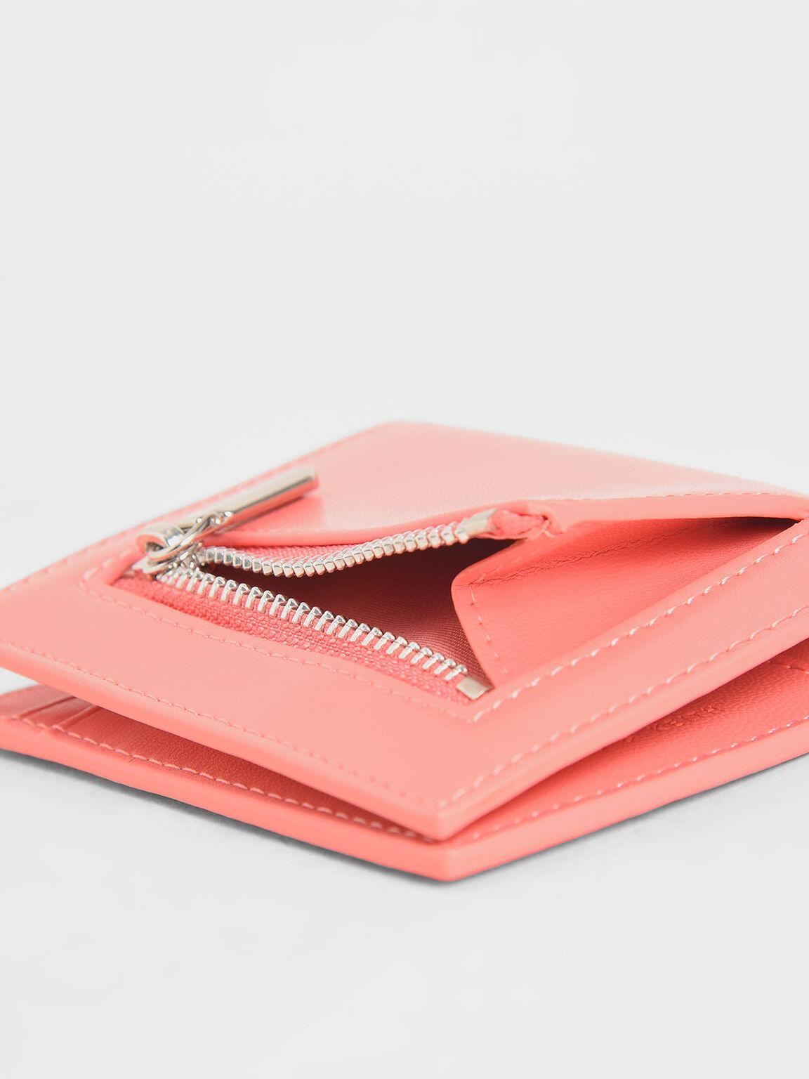 Square Small Wallet, Pink, hi-res