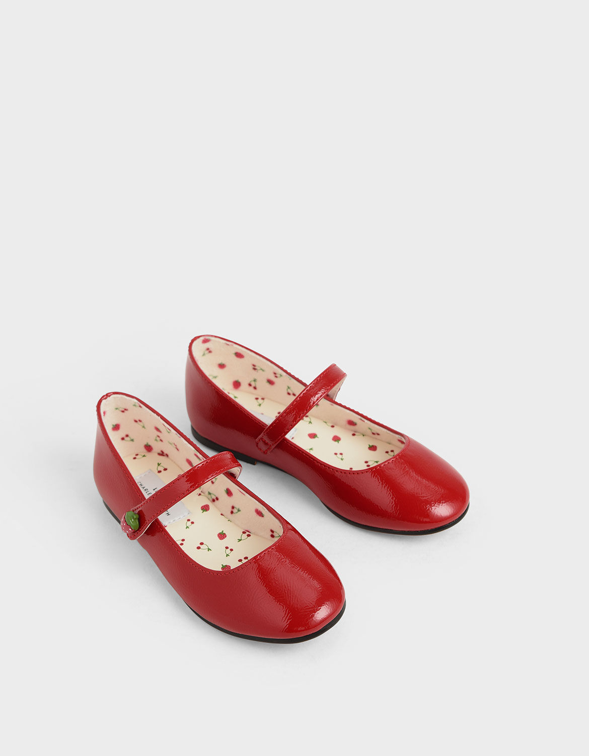 Red Girls' Strawberry Wrinkled Patent