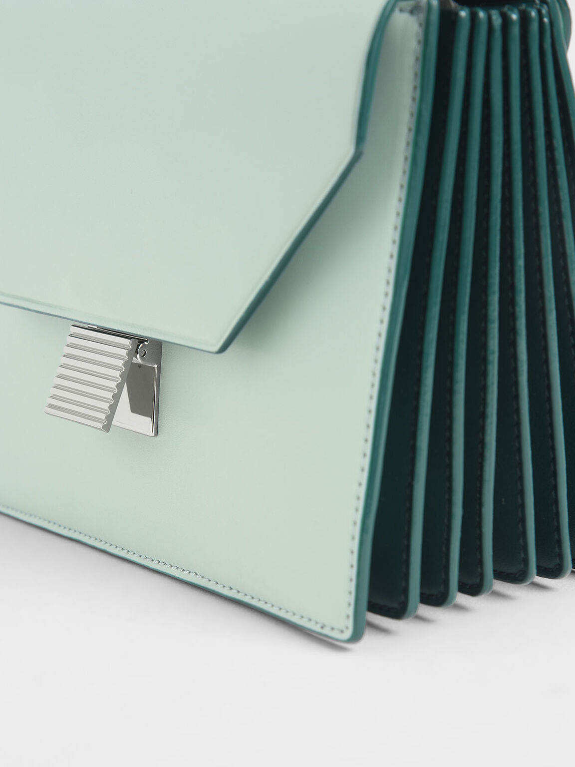 Metal Accent Crossbody Bag, Mint Green, hi-res