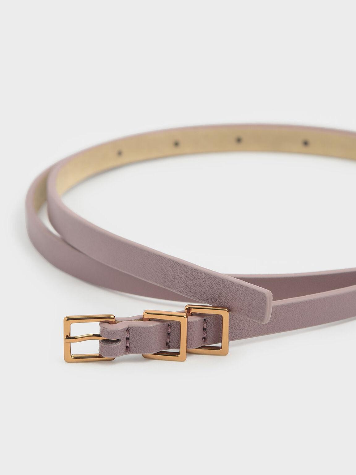 Skinny Knot Belt, Mauve, hi-res
