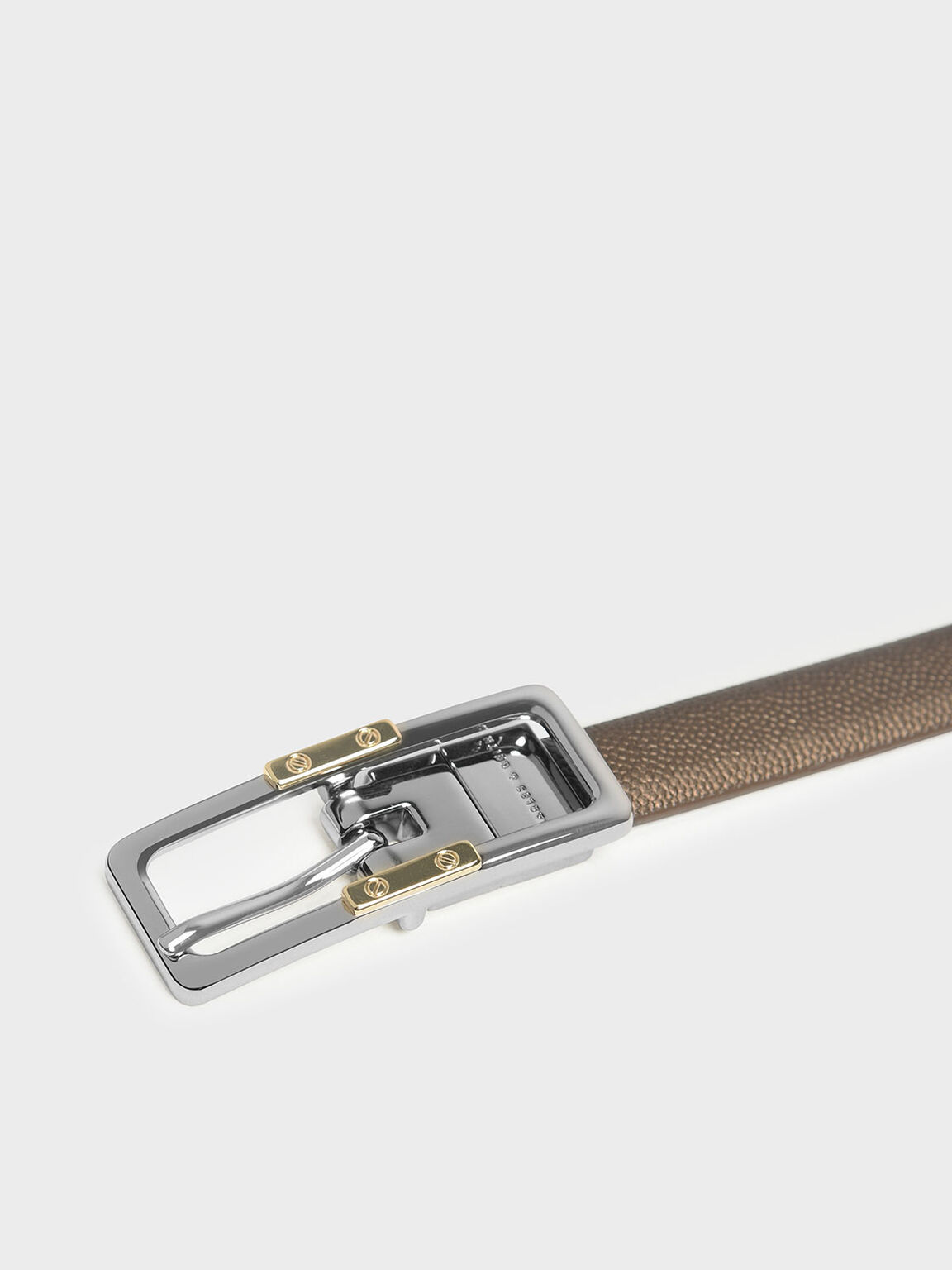 Reversible Thin Belt, Bronze, hi-res