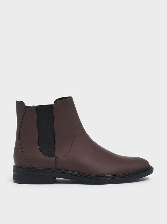 Classic Chelsea Boots, Brown, hi-res