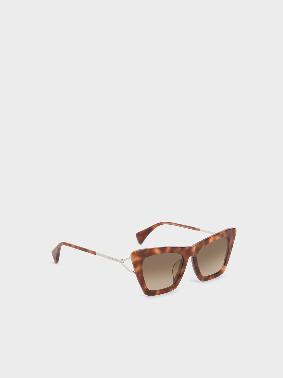 Tortoiseshell Acetate Butterfly Sunglasses, Brown, hi-res