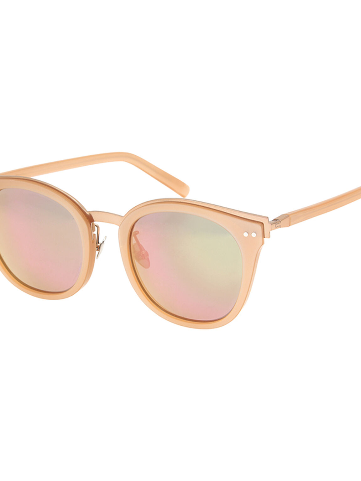 Round Wayfarer Sunglasses, Pink, hi-res