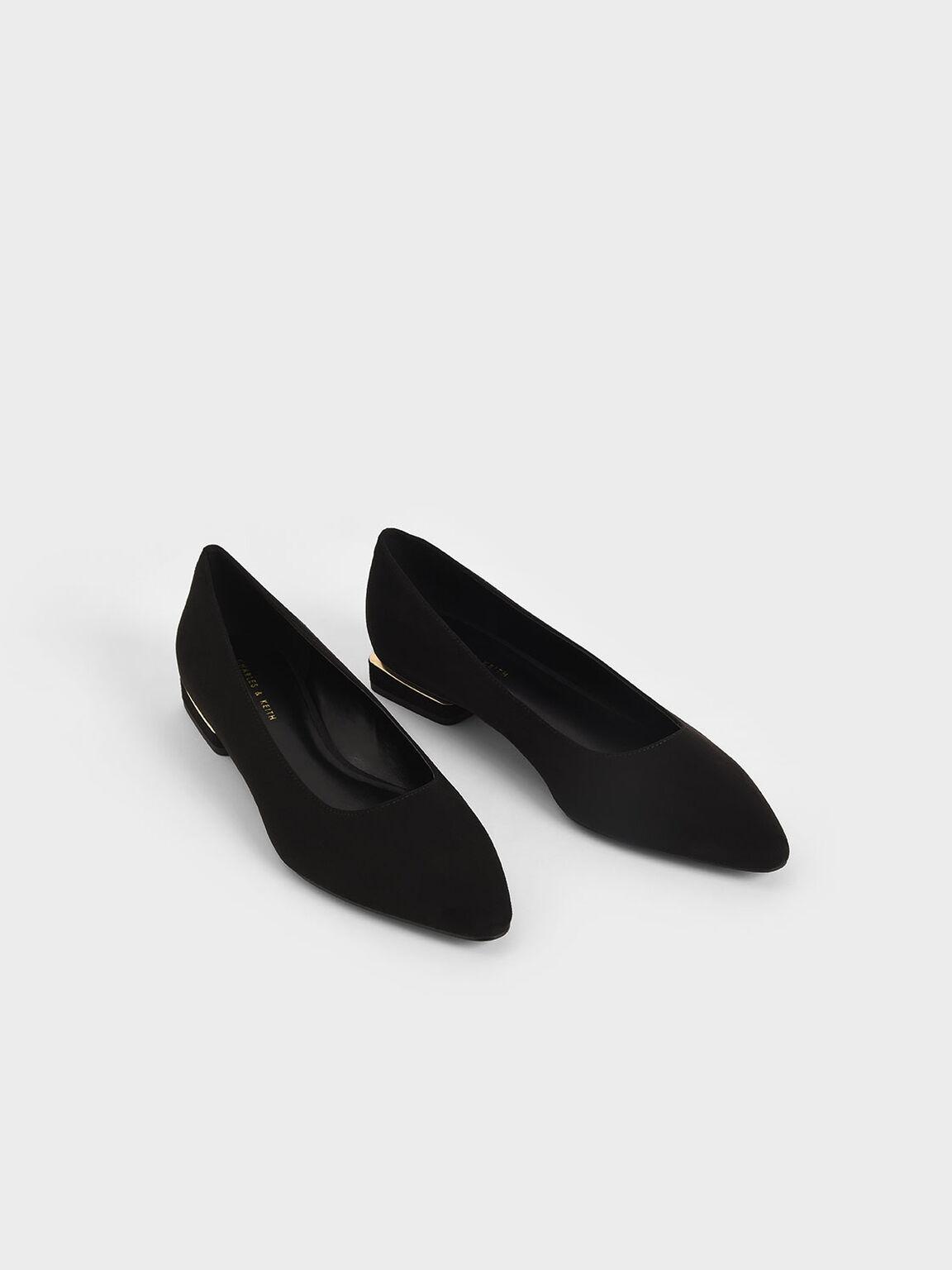 素面尖頭鞋, 黑色特別款, hi-res