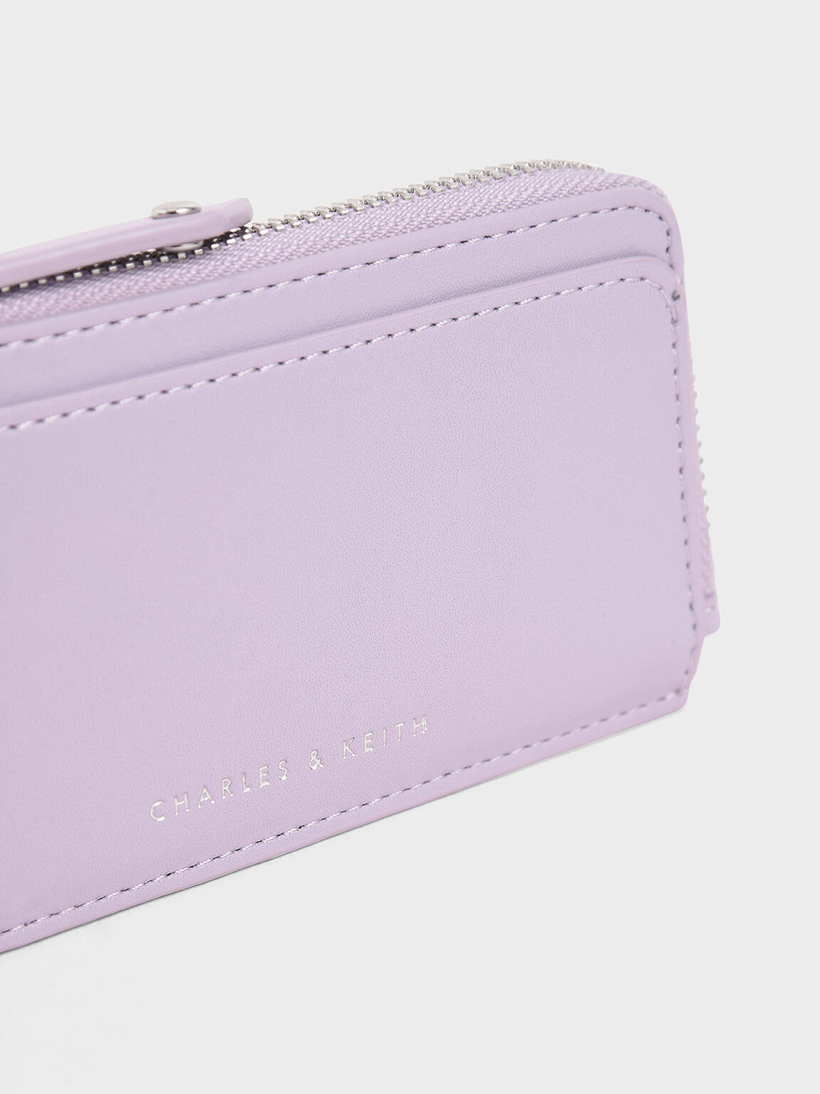 Zip Around Multi-Slot Card Holder, Lilac, hi-res