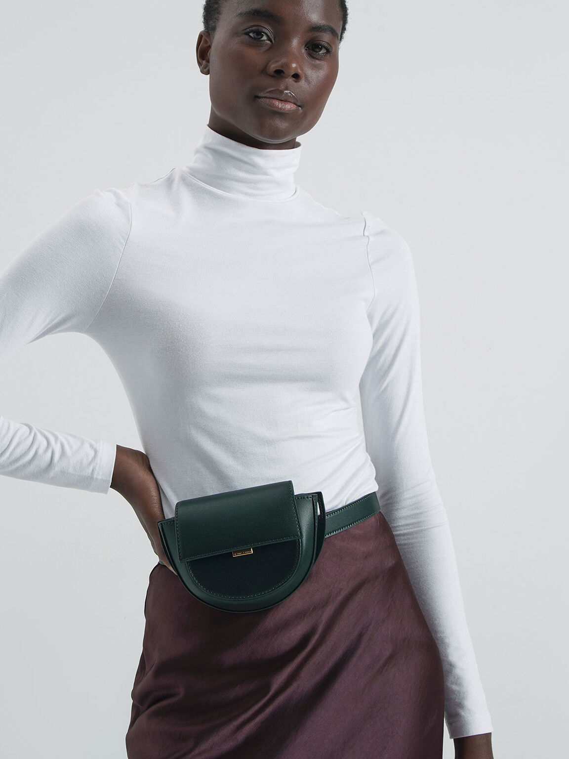 Mini Saddle Pouch, Green, hi-res