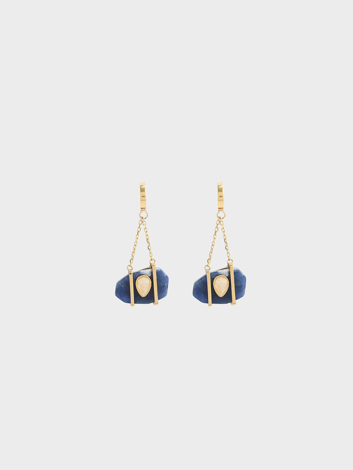Sodalite & Moonstone Drop Earrings, Dark Blue, hi-res