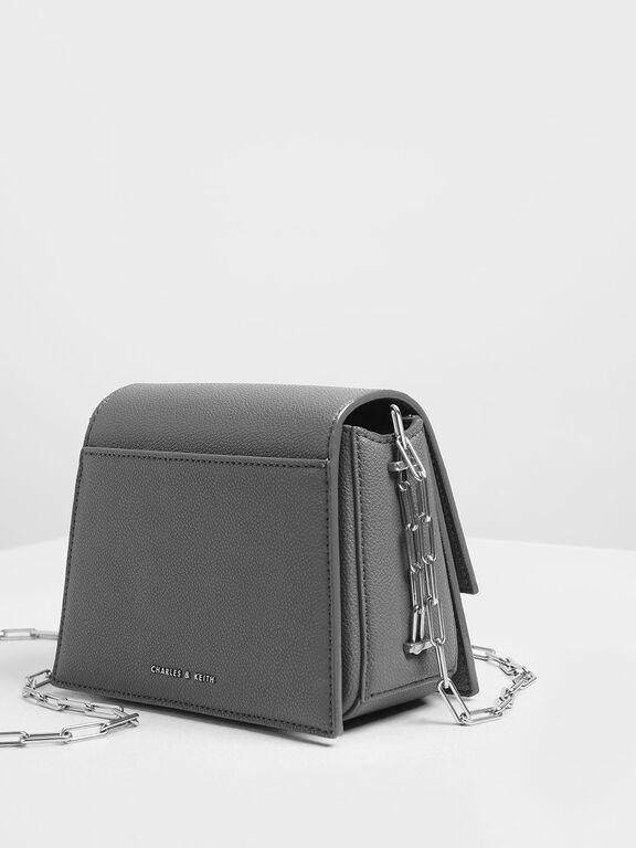 Star Buckle Crossbody Bag, Grey