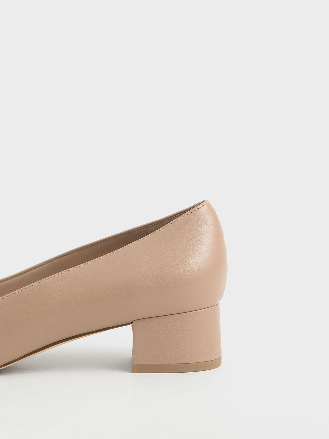 Chrome Tip Pumps, Nude, hi-res