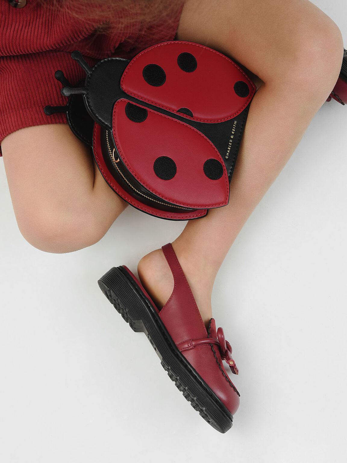 Girls' Ladybug Crossbody Bag, Red, hi-res