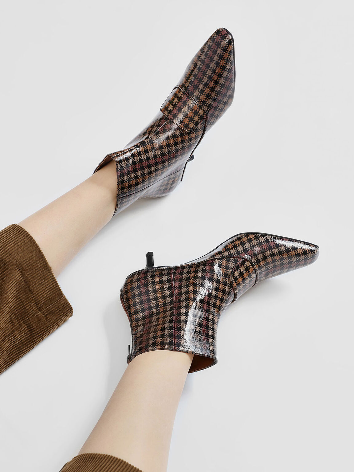 Loafer Detail Ankle Boots, Brown, hi-res