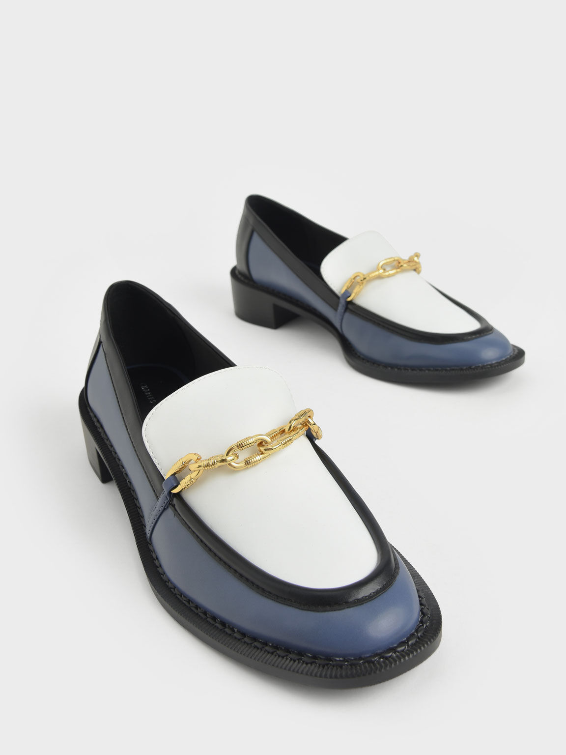 Chunky Chain Link Loafers, Multi, hi-res