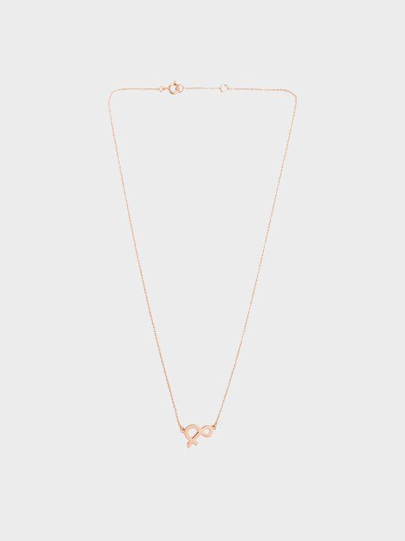 Ampersand Necklace, Rose Gold, hi-res