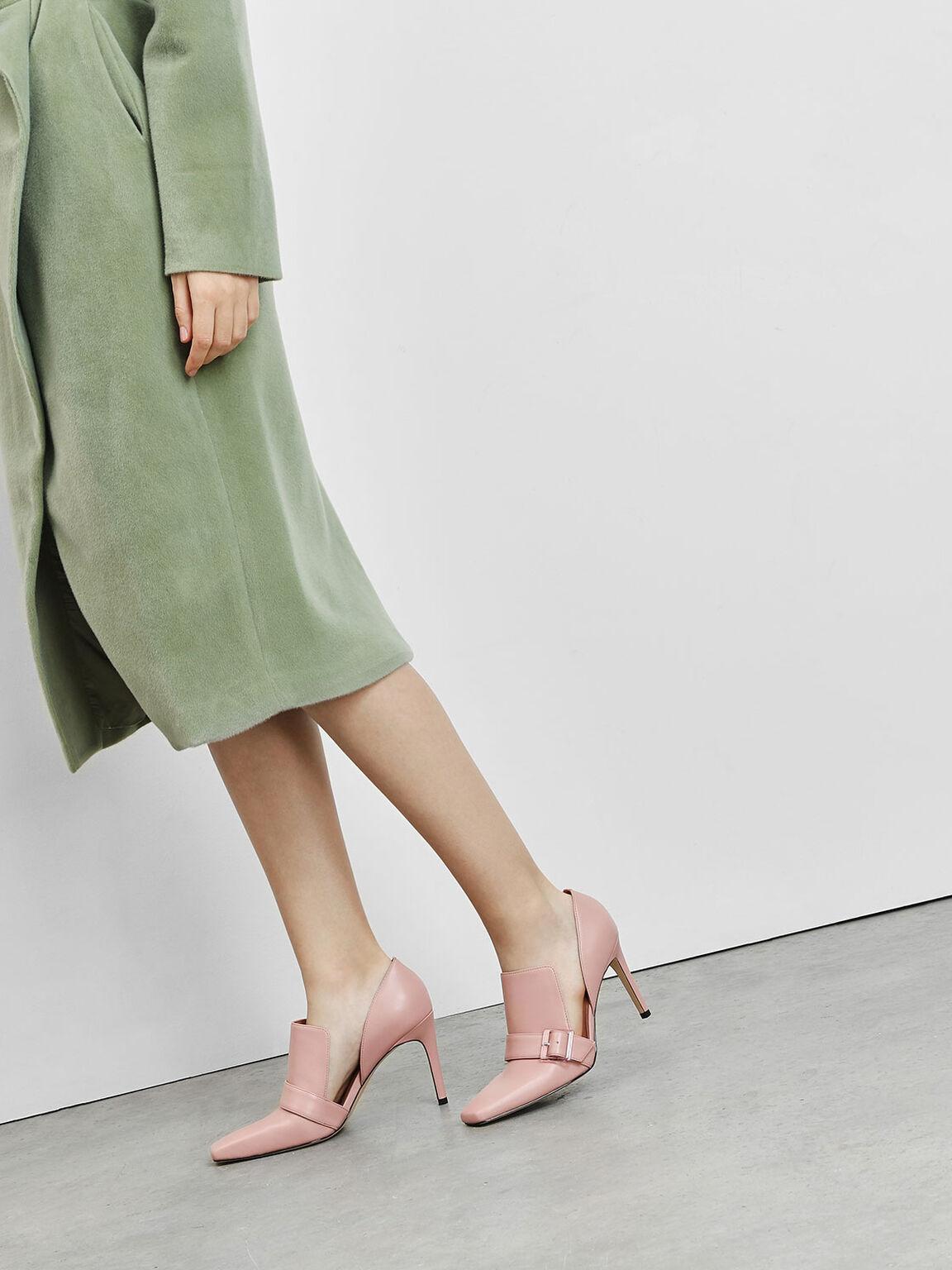 Extended Topline D'Orsay Heels, Blush, hi-res