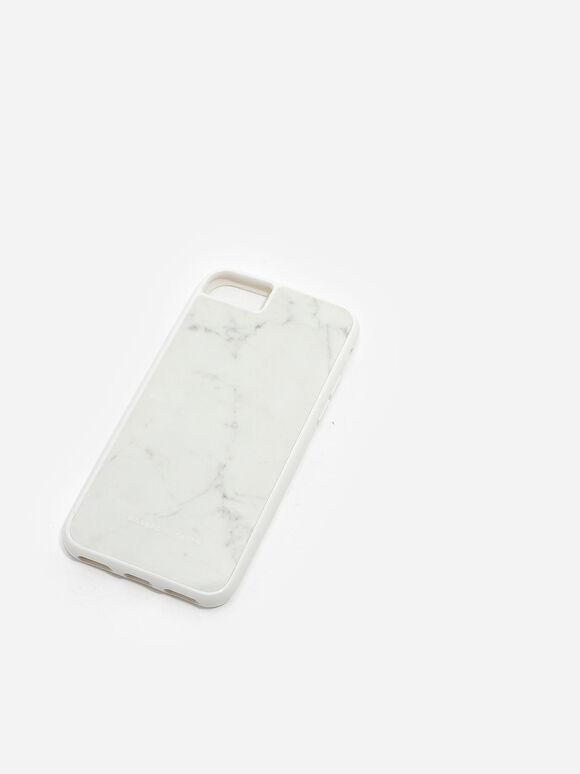 Marble iPhone Case, White, hi-res