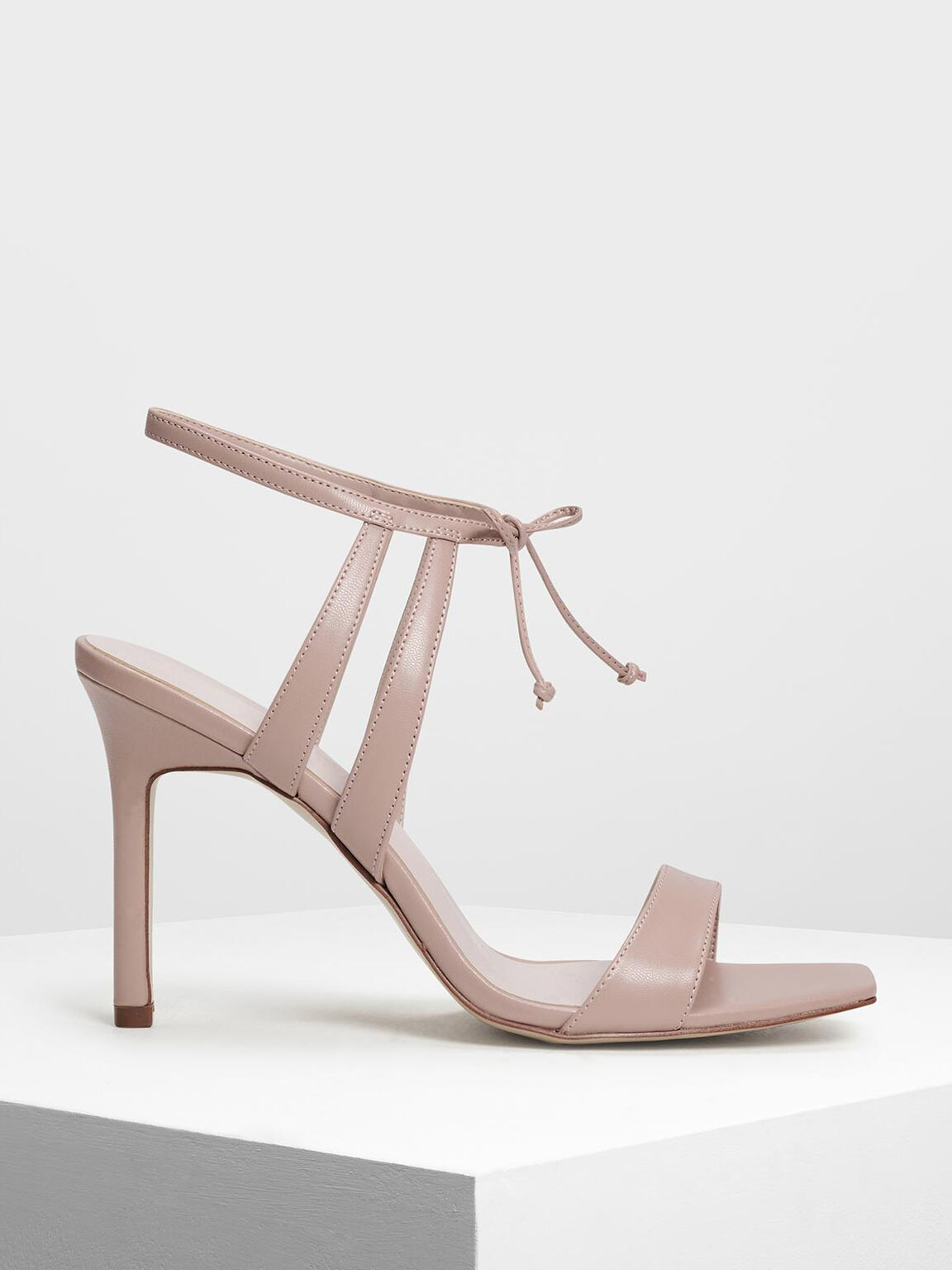 Strappy Heeled Sandals, Nude, hi-res