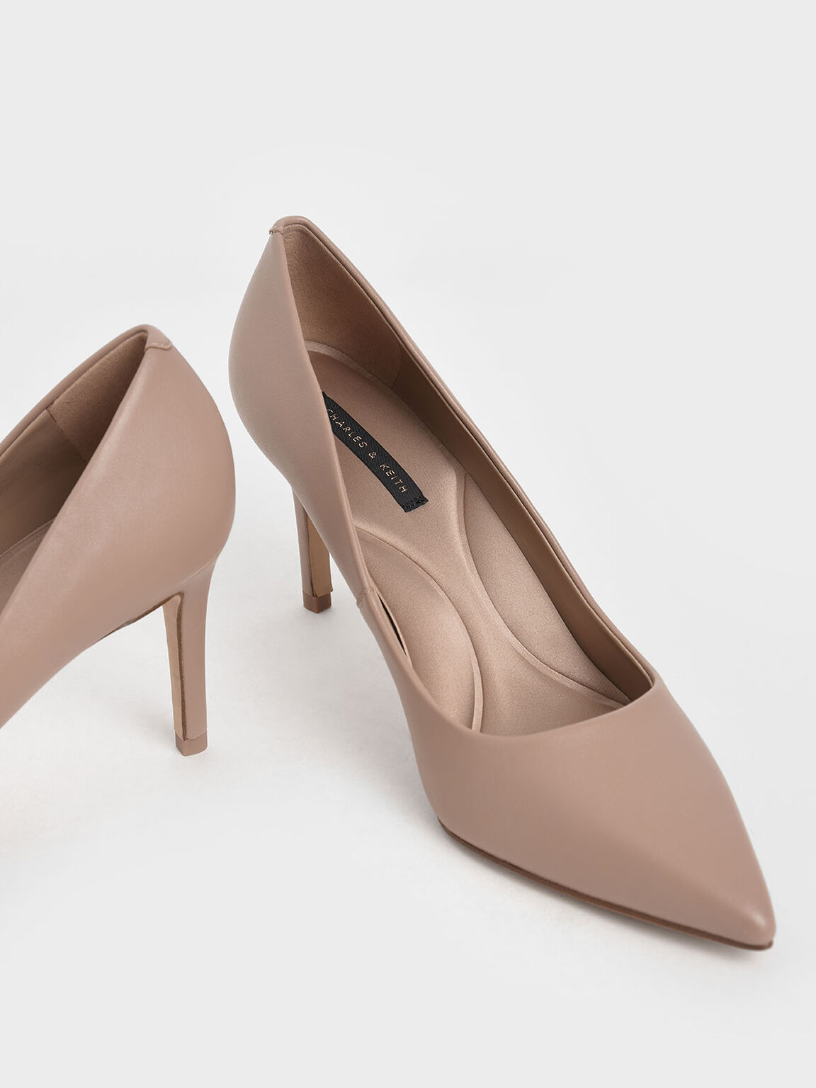 Pointed Toe Pumps, Pink, hi-res