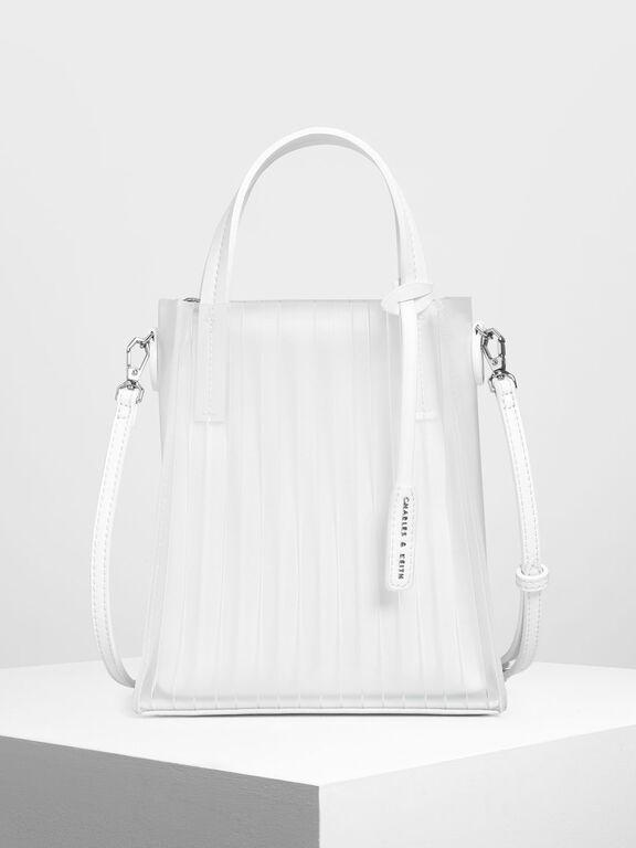 Translucent Tote Bag, White, hi-res