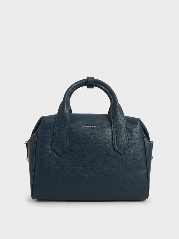 Double Handle Duffel Bag, Blue, hi-res