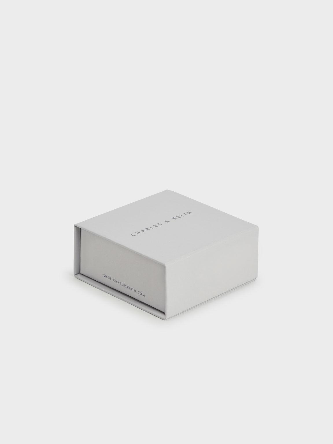Geometric Cuff Bracelet, Silver, hi-res