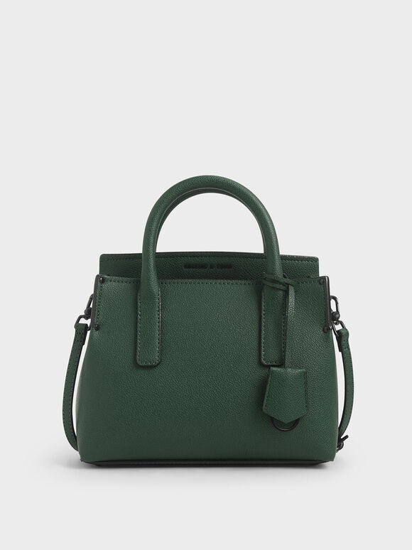 Double Handle Tote Bag, Green, hi-res