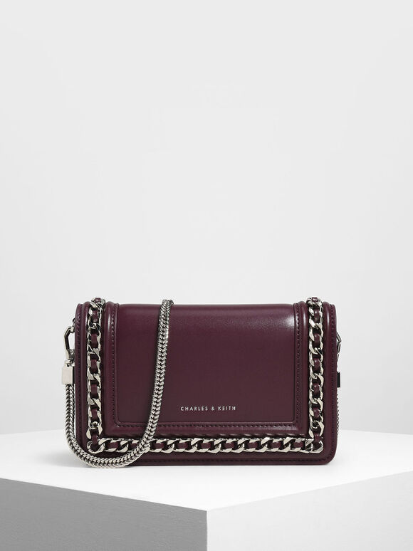 Chain Detail Clutch, Prune, hi-res
