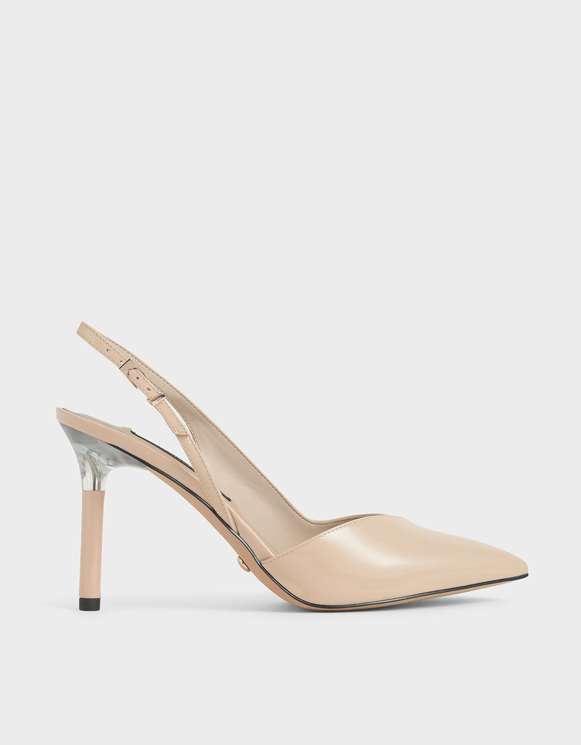 Light Pink Patent Leather Half D'Orsay