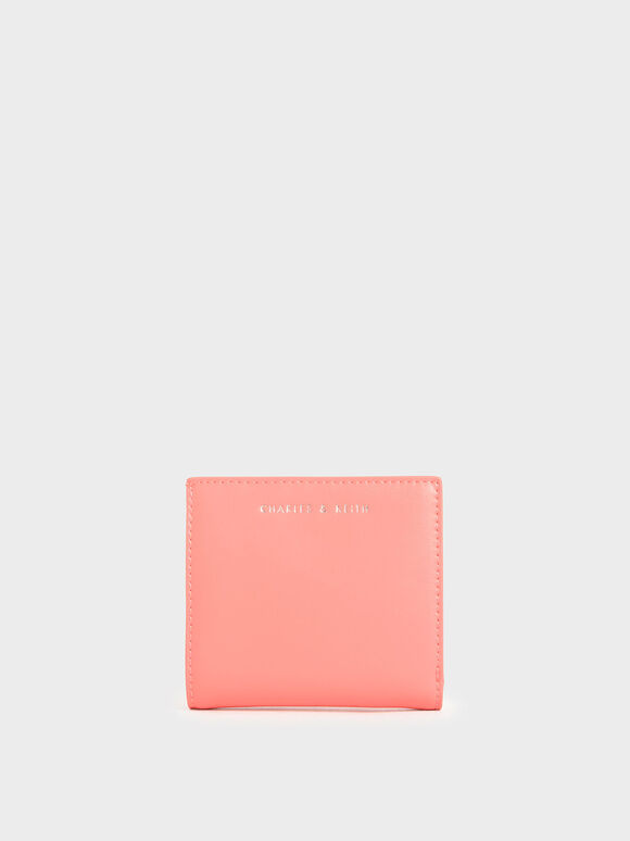 Square Small Wallet, Pink, hi-res