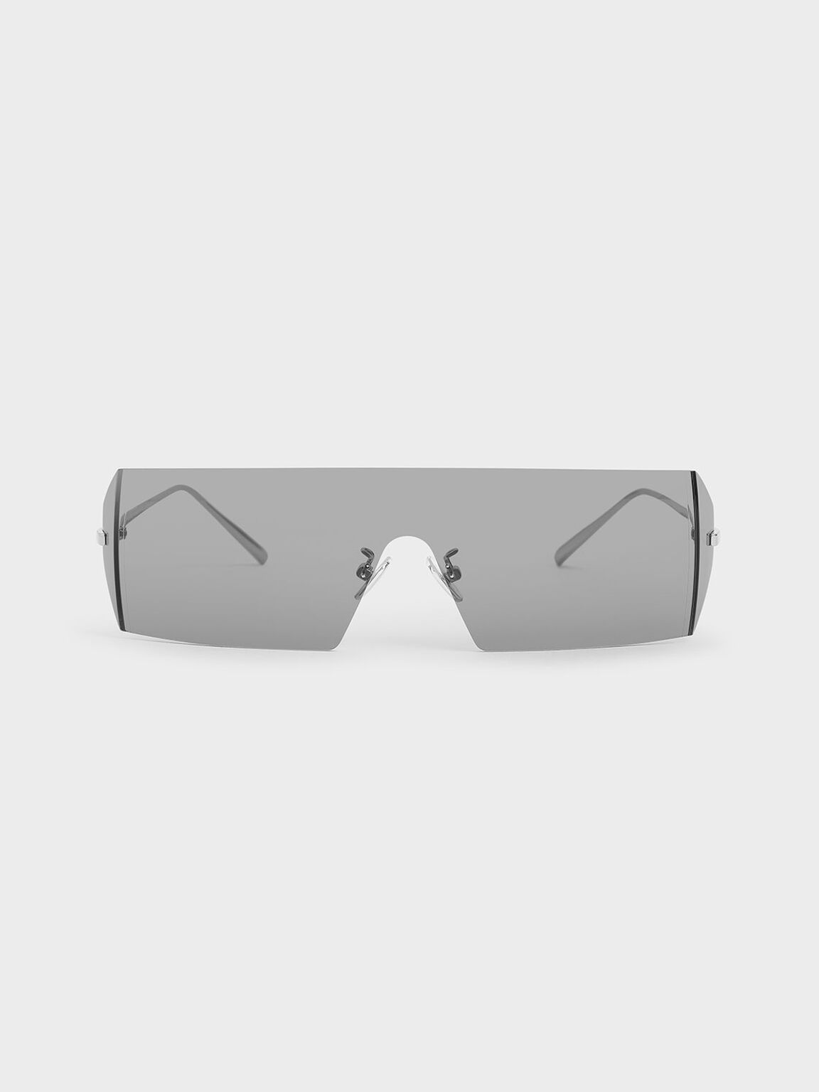 Rectangular Shield Sunglasses, Grey, hi-res