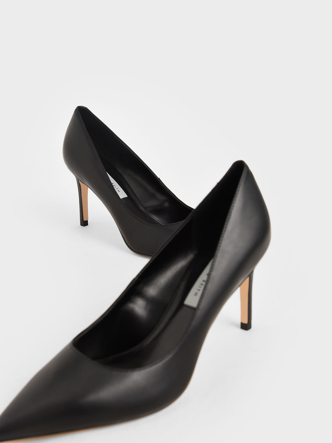 Classic Stiletto Heel Pumps, Black, hi-res