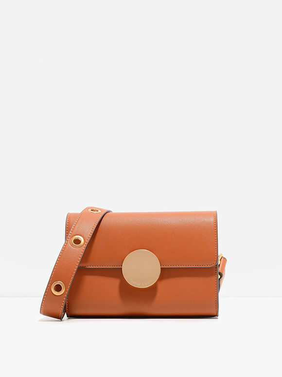 Grommet Sling Bag, Orange, hi-res