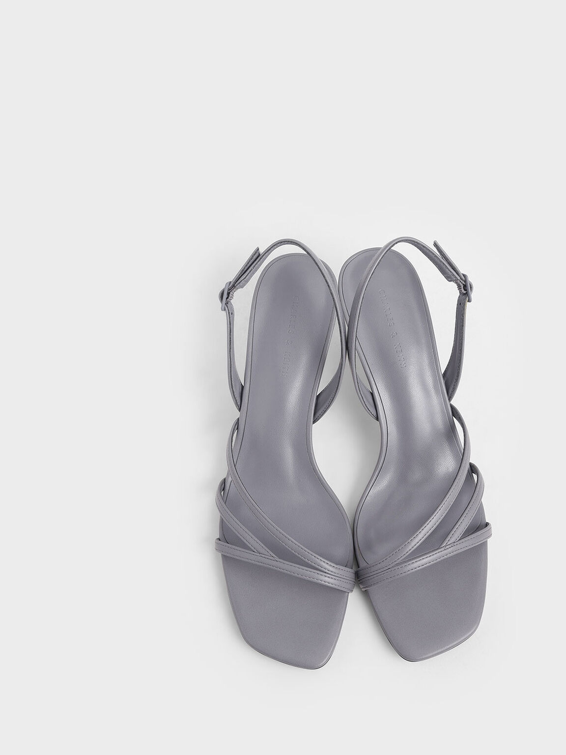 Asymmetric Strappy Heels, Lilac Grey, hi-res
