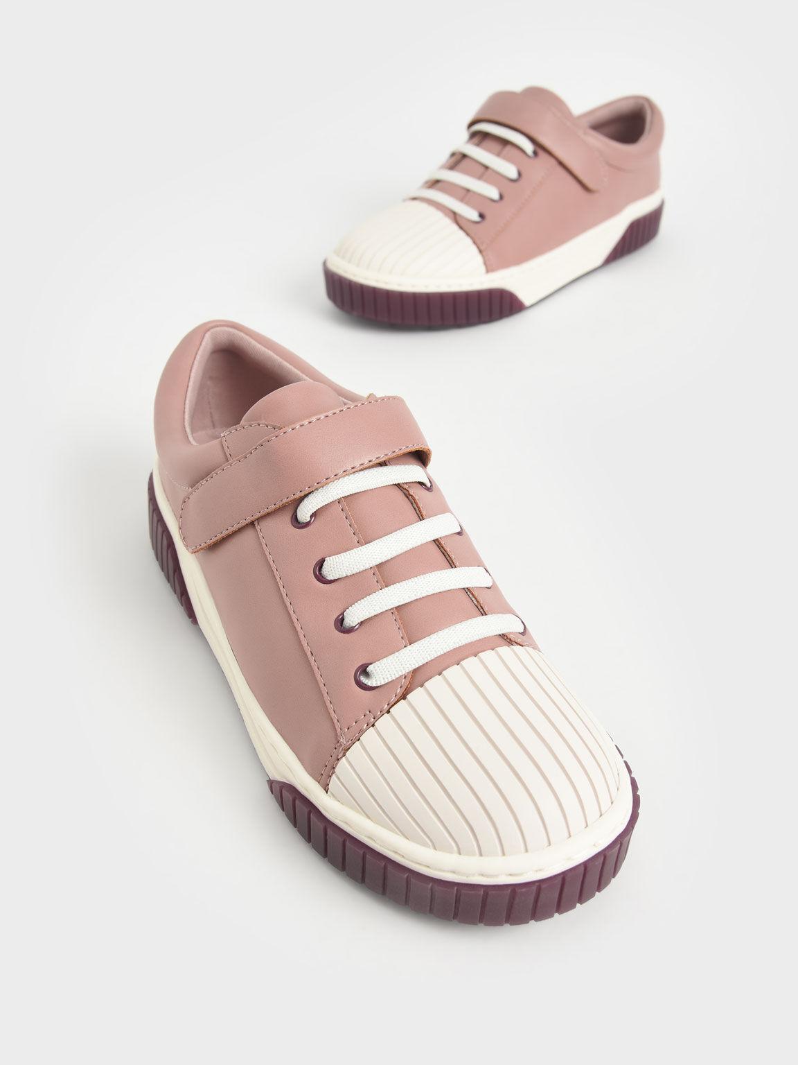 Girls' Platform Sneakers, Pink, hi-res