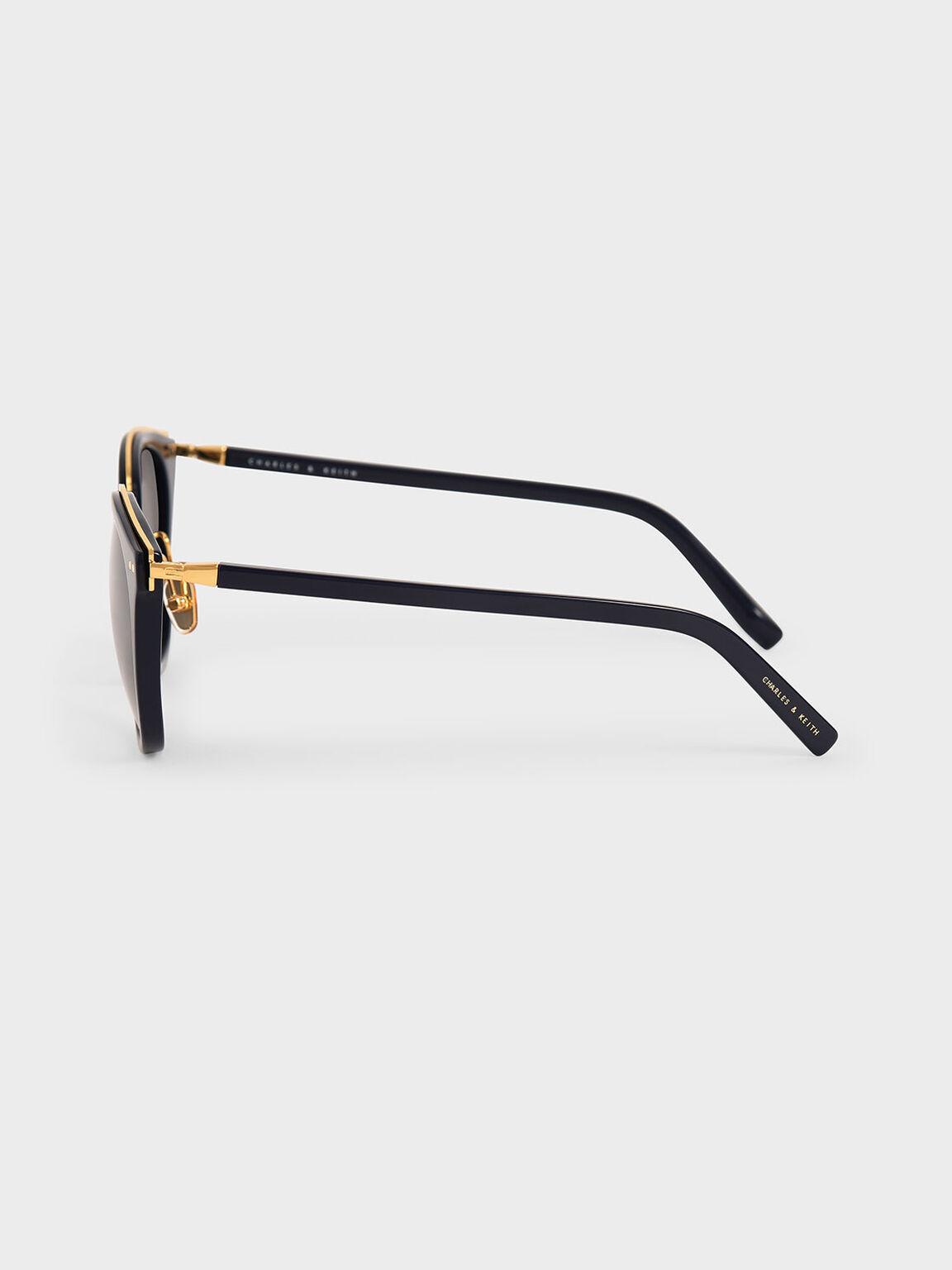 Acetate Frame Wayfarer Sunglasses, Dark Blue, hi-res