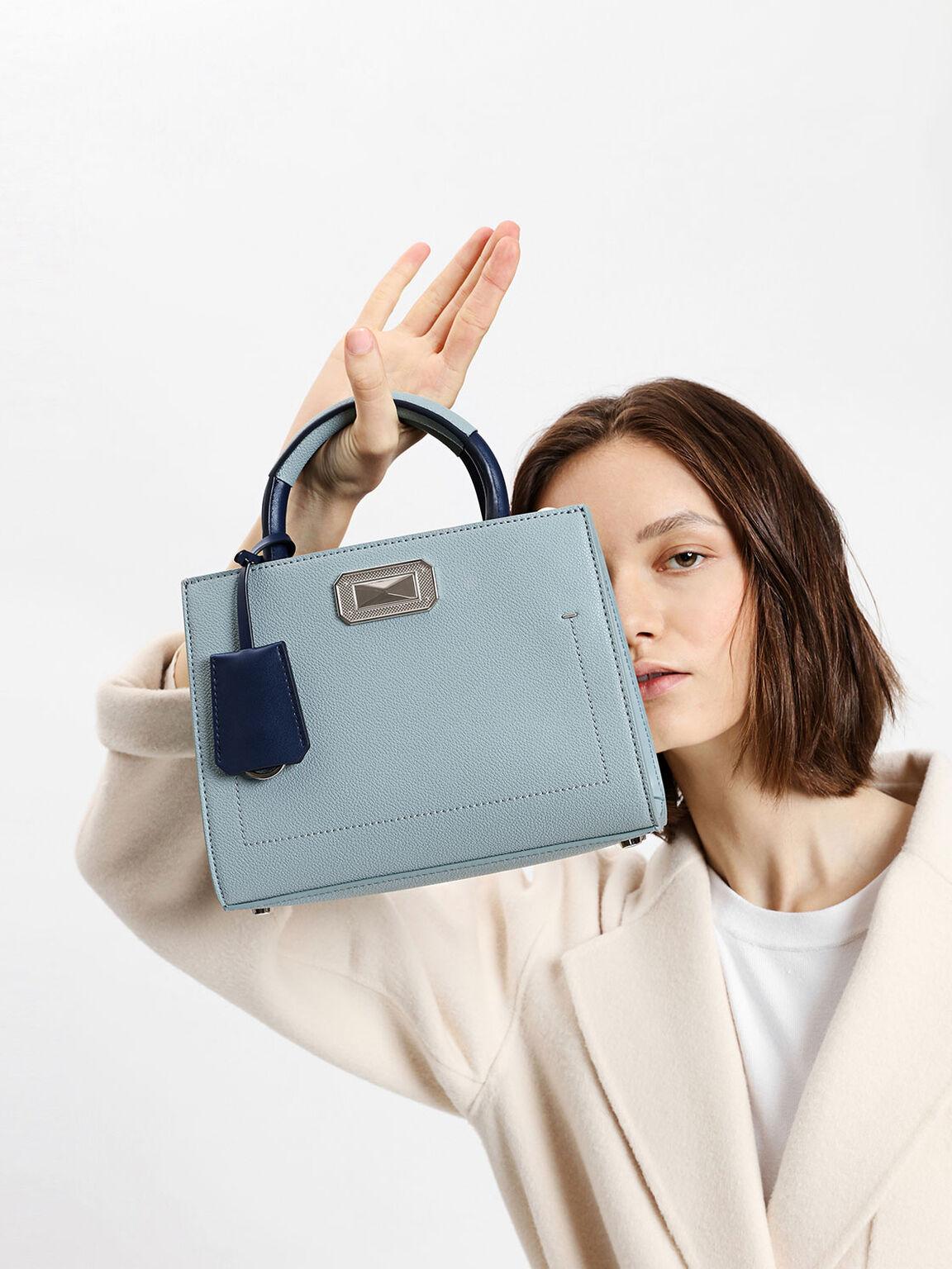 Classic Structured Bag, Slate Blue, hi-res