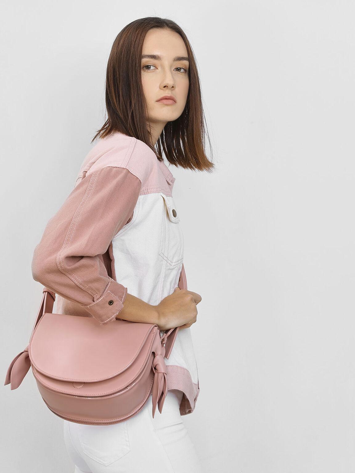 扭結馬鞍包, 嫩粉色, hi-res