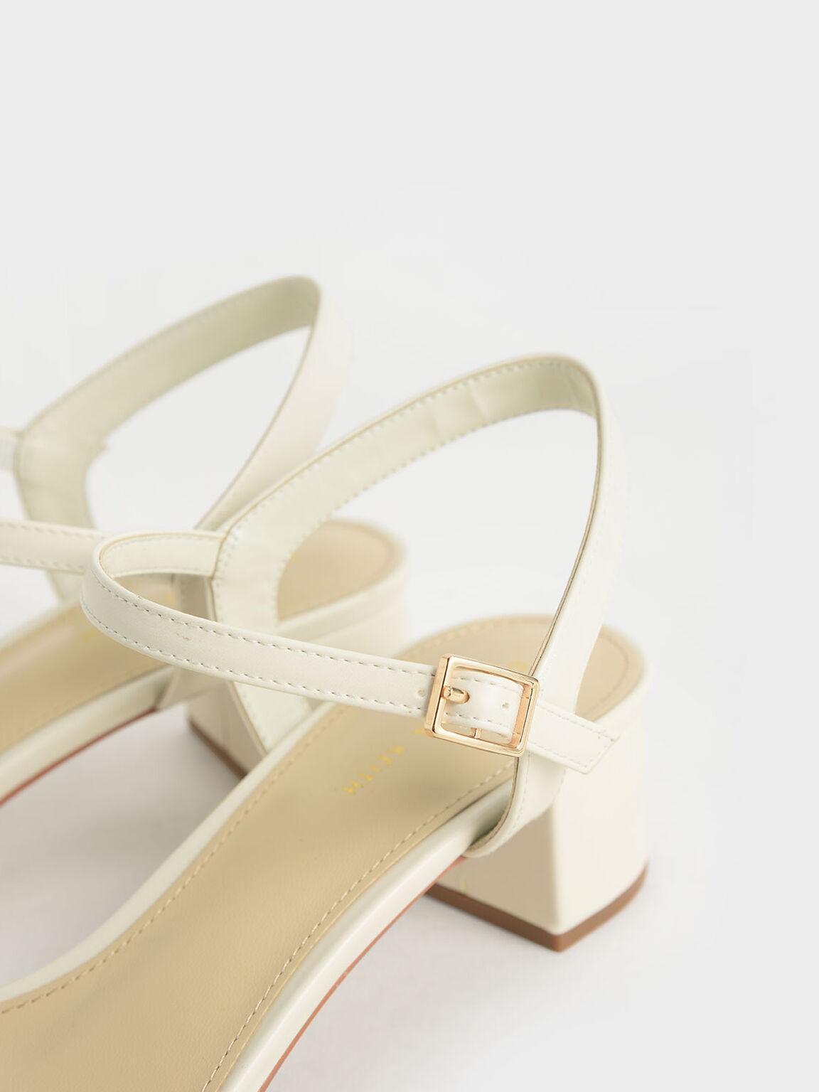 Open-Toe Sandals, Chalk, hi-res