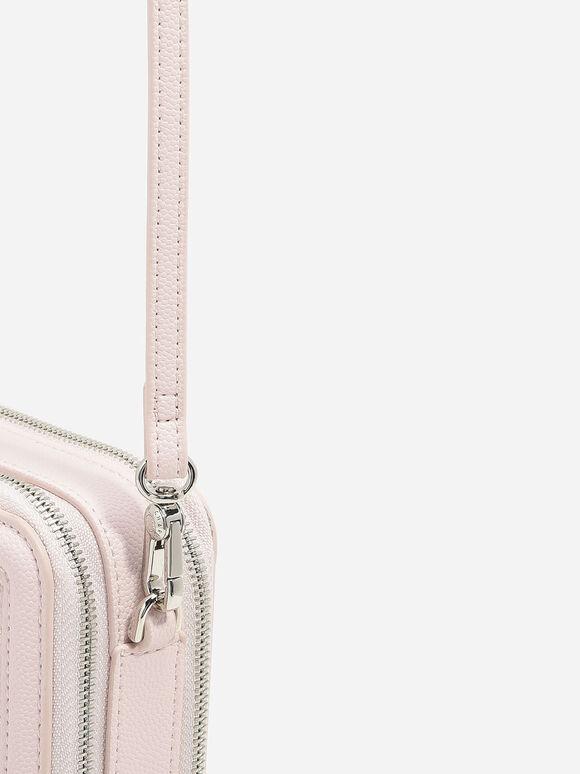 菱格紋手拿皮夾, 粉紅色, hi-res