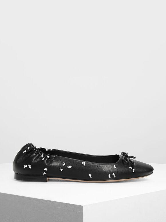 芭蕾舞平底鞋, 黑色特別款, hi-res