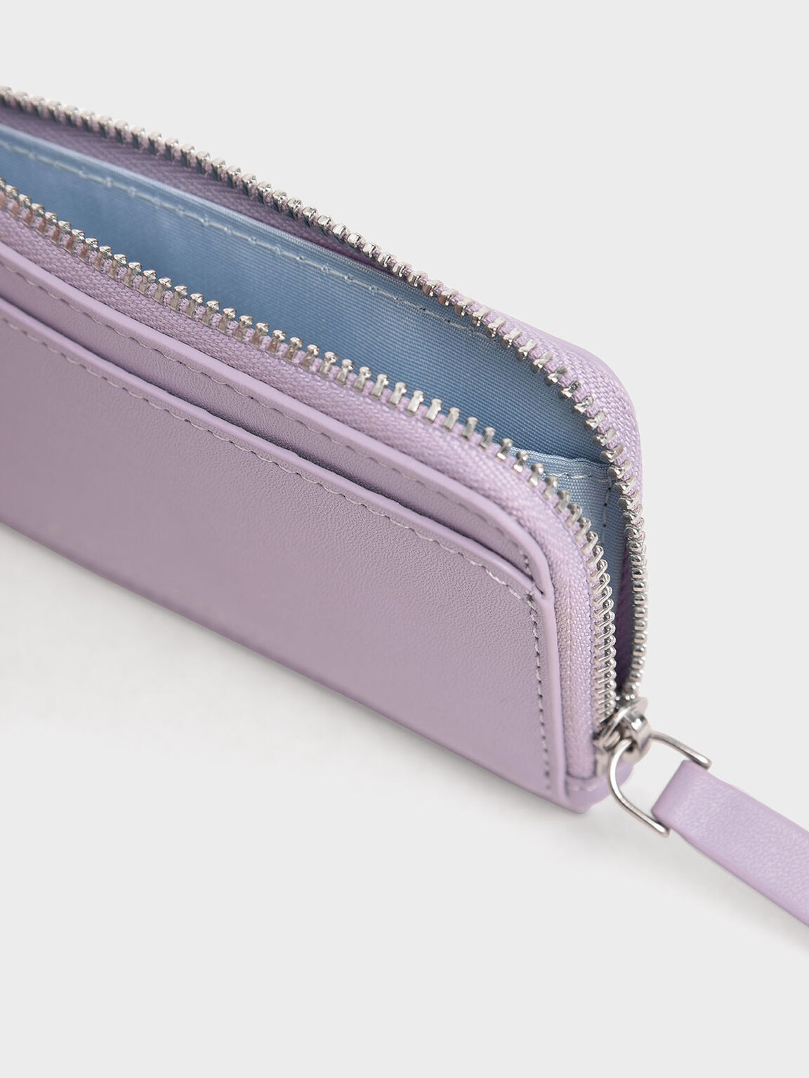 Zip Around Multi-Slot Card Holder, Lilac, hi-res