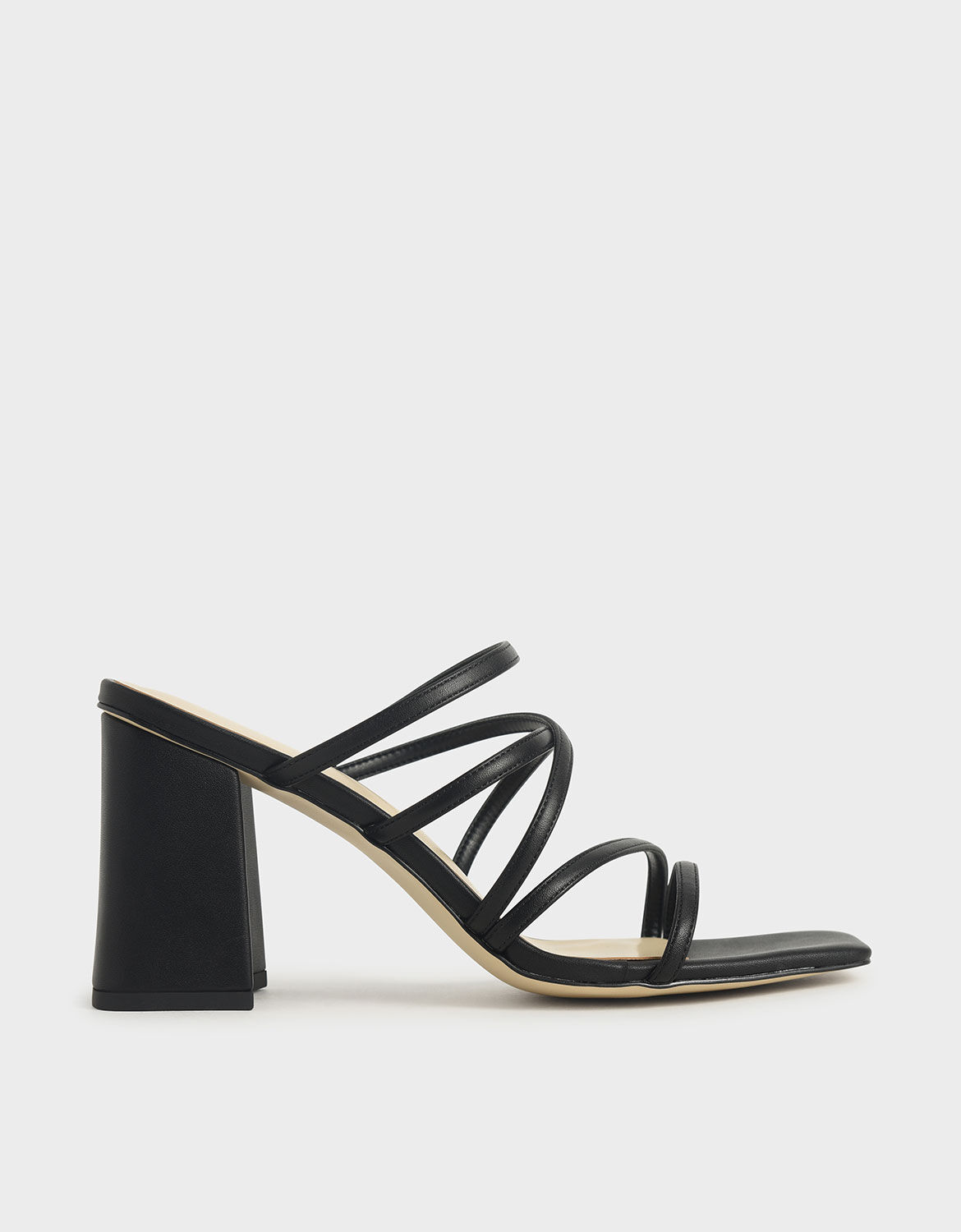 Strappy Chunky Heel Mules