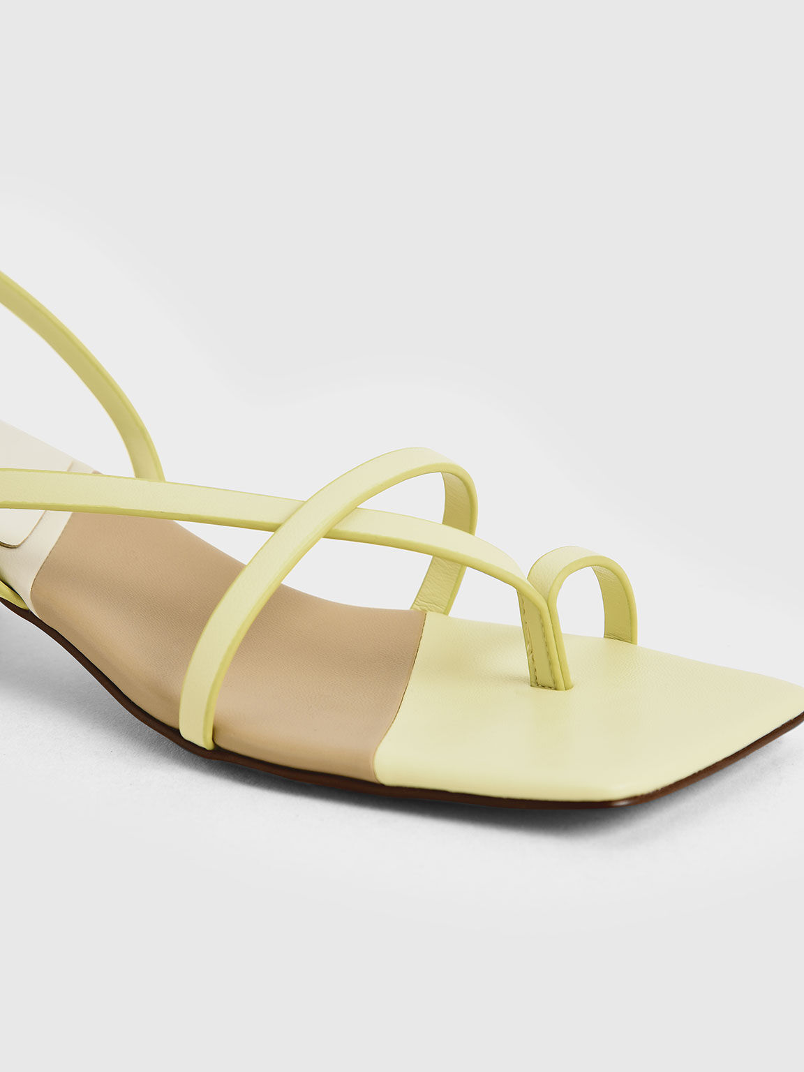 Strappy Slingback Sandals, Yellow, hi-res