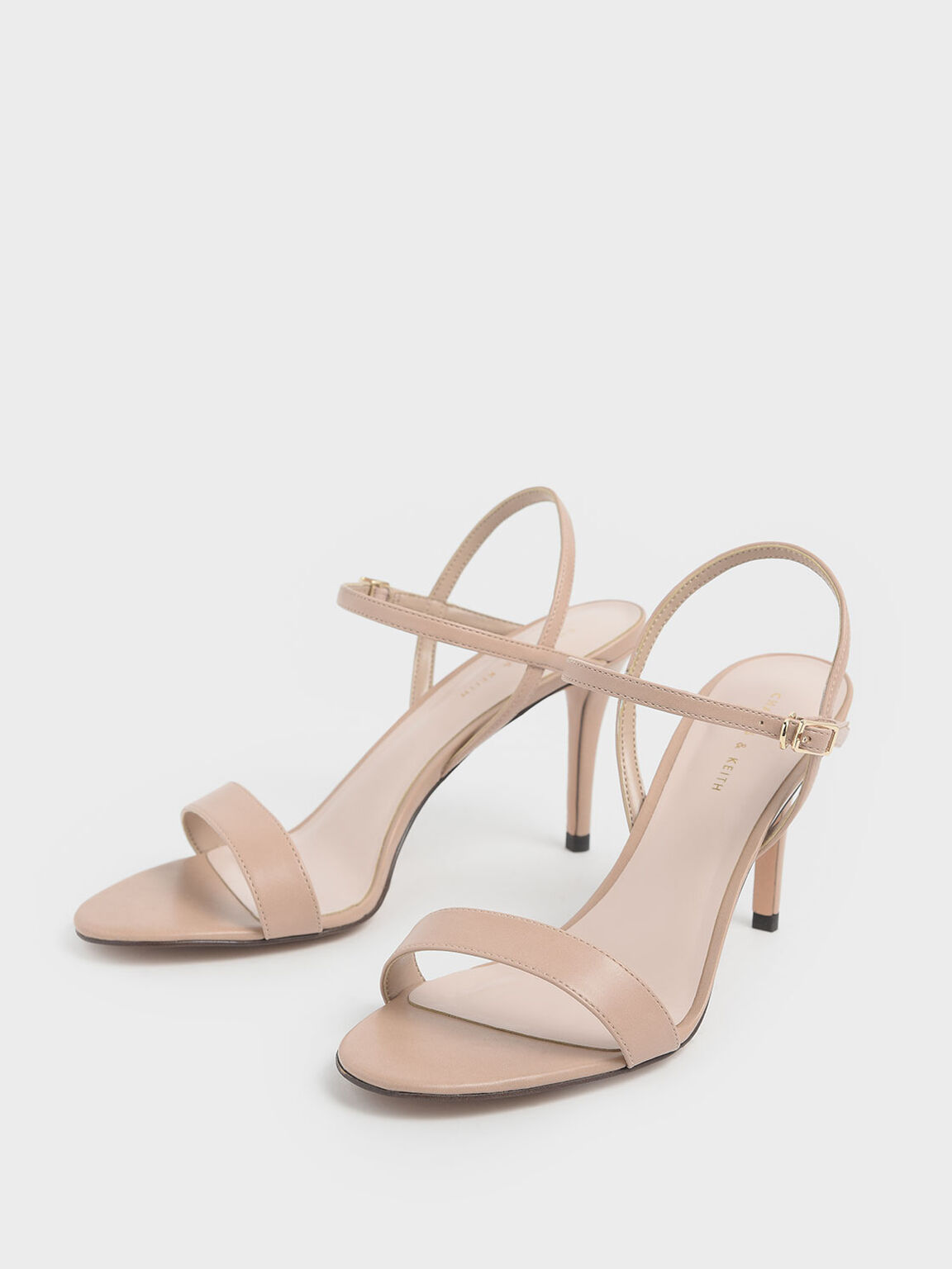 Classic Stiletto Heel Sandals, Nude, hi-res